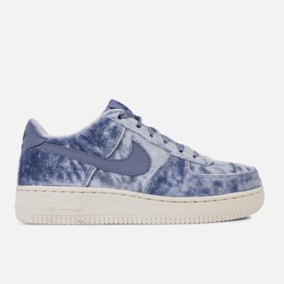 hot sale online bd095 9ce61 Nike Air Force 1 Blue Velvet Sneaker Shoes